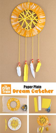 paper plate dream catcher with free printable paper feathers and web. This is a fun and easy craft for kids! #paperplate #paperplatecrafts #kidscrafts #funkidscrafts #thecrafttrain #printables #traditionalcrafts #summer #summercrafts #campcrafts #papercrafts #kidsactivities Christmas Toilet Paper, Toilet Paper Crafts, Paper Plate Crafts For Kids, Easy Crafts For Kids, Summer Crafts, Toddler Crafts, Christmas Tree, Dream Catcher For Kids, Dream Catcher Craft