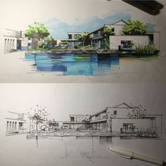 Interesting Find A Career In Architecture Ideas. Admirable Find A Career In Architecture Ideas. Architecture Sketchbook, Concept Architecture, Landscape Architecture, Interior Architecture, Interior Design, Building Painting, Building Drawing, Architect Drawing, Architect Design