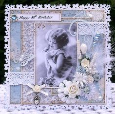 A Sprinkling of Glitter: Happy Silver Wedding Anniversary Mr Stacey & A Vintage Card