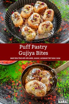 Indian Dessert Recipes, Indian Sweets, Appetizer Recipes, Snack Recipes, Cooking Recipes, Appetizers, Holi Recipes, Pistachio Cookies, Fusion Food