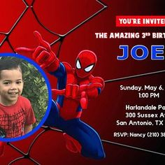 Nancy Garcez added a photo of their purchase Spiderman Birthday Invitations, Rsvp Wording, Everything Will Be Ok, Thank You Tags, Etsy App, Kid Names, Favor Tags, Party Printables, Creative Business