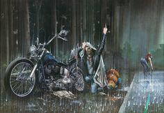 Dave Mann ER Sep 82 Breakdown In The Rain 1554 X 1068