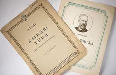 I love you Grieg song sheet opera Cherevichki by SovietEra on Etsy