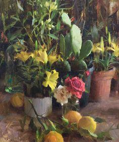 """Daniel Keys, """"Desert Still Life"""", 24"""" x 20"""" Oil."""