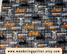 Fabric, quilts, quilted stuff, and printable pictures by WanderingQuilter Hanging Quilts, Quilted Wall Hangings, Harley Davidson Fabric, Printing Services, Online Printing, Us Army Uniforms, Quilt Display, Rock And Roll, Digital Prints