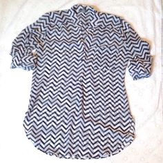 "Selling this ""Chevron blouse"" in my Poshmark closet! My username is: mariepetite. #shopmycloset #poshmark #fashion #shopping #style #forsale #Charlotte Russe #Tops"
