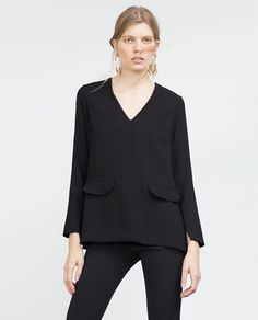 Image 2 of LONG SLEEVE TOP from Zara