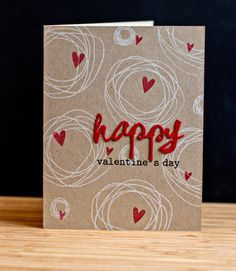 Card by Karen Walker (020915) [(dies) Papertrey Ink West Paint Cutsd; (stamps) Papertrey Ink Circle Scribbles, Simon Says Stamps! unidentified hearts; Winnie & Walter The Big, the Bold, and the Happy]