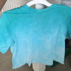Tie dye crop top Blue faded tie dye crop top. It's a kids large but fits juniors and womens small. Circo Tops Crop Tops