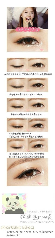 #panda excelente maquillaje