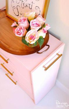 ribbon organizer ikea rast hack, craft rooms, organizing, painted furniture, storage ideas