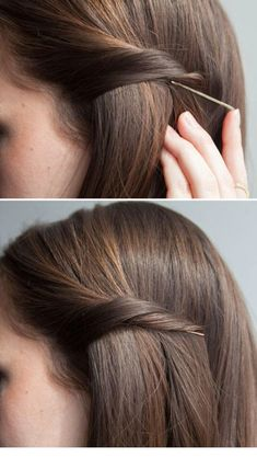 How to correctly put the bobby pin in.