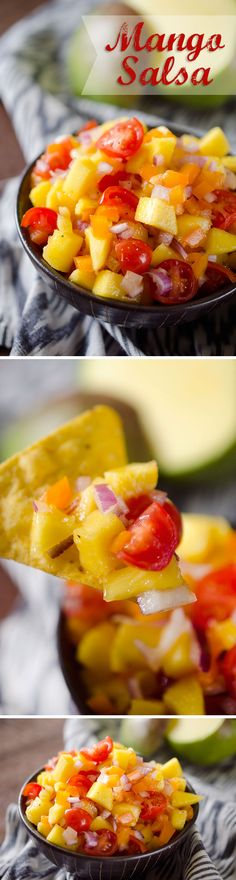 Mango Salsa - A fresh and flavorful pico de gallo recipe made with fresh fruit and vegetables for the perfect summer snack or healthy addition to a grilled chicken breast or steak!