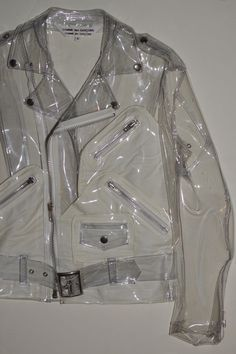 "lordbape:  saf-rimmings:  COMME des GARÇONS PVC Biker  You don't have to copy and paste the description baby. You don't have to delete it. I already typed it. You just gotta click the ""reblog"" button. Quick #tip!"