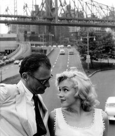 Marilyn Monroe and Arthur Miller in 1956. His account of Marilyn in his autobiography broke my heart. She seemed so sad.