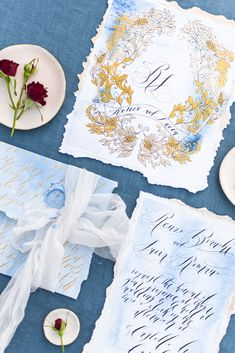 Handpainted wedding invitations with fine papers and ribbons…pure luxe! Jump over to see more from this beauty at the Belmond Tuscany! Wedding Sets, Dream Wedding, Wedding Stuff, Wedding Cards, Wedding Stationery, Wedding Invitations, Countryside Wedding, Italy Wedding, Wedding Vendors