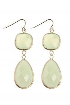 gold plated #green #jade earrings I designed for NEW ONE I NEWONE-SHOP.COM