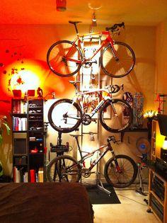 Similar to my set up but it's mountain bike, mountain bike and you guessed it mountain bike.