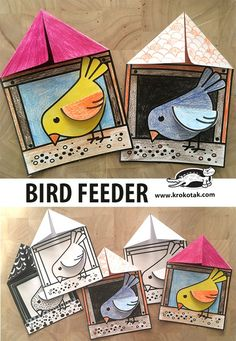 Bird Feeder Bird Feeder,Kunst grundschule children activities, more than 2000 coloring pages Related posts:There's always that one friend - Yoga Poses For Correcting Bad Posture Kids Crafts, Bear Crafts, Animal Crafts For Kids, Winter Crafts For Kids, Spring Crafts, Preschool Crafts, Art For Kids, Winter Art, Elementary Art