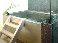Modern Japanese Soaking Tubs For Small Bathrooms Ideas : Japanese . - Gordon Cox - Modern Japanese Soaking Tubs For Small Bathrooms Ideas : Japanese . Modern Japanese Soaking Tubs For Small Bathrooms Ideas : Japanese . Small Bathroom With Tub, Small Tub, Modern Bathroom Tile, Tiny House Bathroom, Small Bathrooms, Outdoor Bathrooms, Wooden Bathroom, Amazing Bathrooms, Japanese Soaking Tub Small