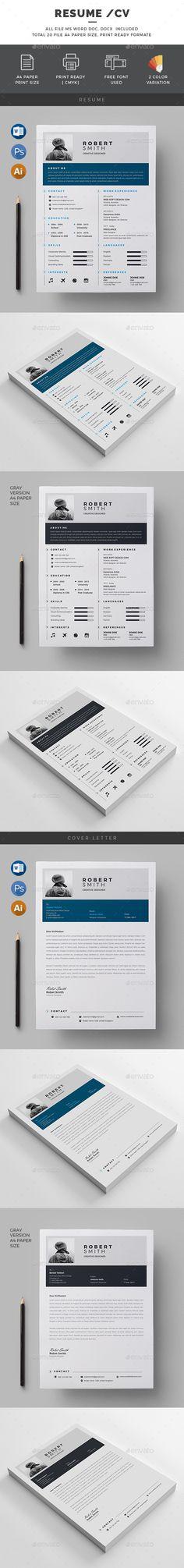 #Resume/CV - Resumes Stationery Download here: https://graphicriver.net/item/resumecv/19534101?ref=alena994