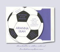Soccer Bat Mitzvah Invitation