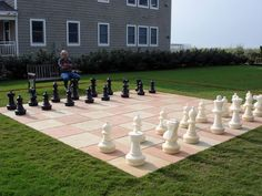 Giant Chess Set The Giant Chess Pieces In This Backyard Chess Set Provide A  Surreal Setting For A Childu0027s Imagination To Run Wild. (via Traditionau2026