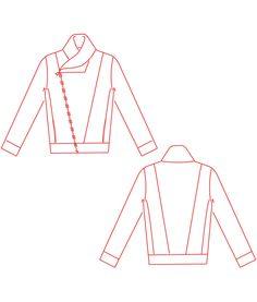 Sewing Pattern Jacket Tinaschnittchen Schnittmuster und Nähanleitungen