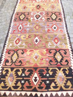 Hey, I found this really awesome Etsy listing at https://www.etsy.com/listing/168391056/colorful-turkish-kilim-carpet-vintage