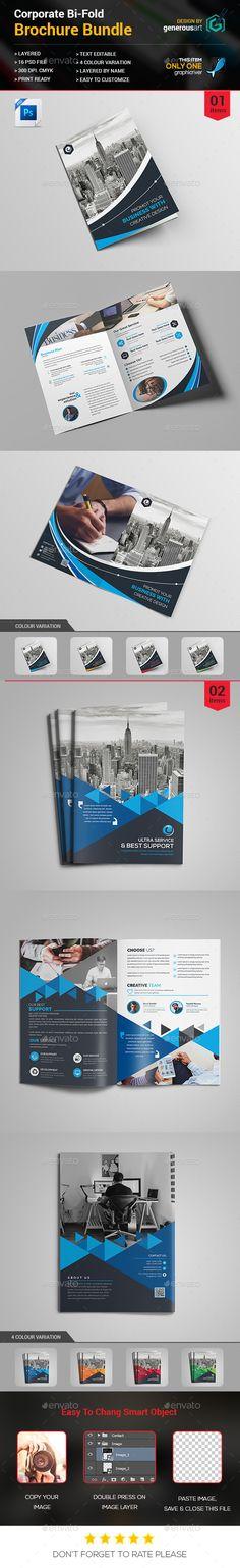 square bi fold brochure brochures brochure template and psd templates - Settlement Brochure Template