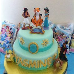 birthday,kids-Your event is as important to us as it is to you. we at cake club party work to provide you with not only quantity but quality as well. Princess Jasmine Cake, Princess Cakes, Fondant Cakes, Cupcake Cakes, Jasmine Birthday Cake, Aladdin Cake, Aladdin Party, Jasmin Party, Fantasy Cake