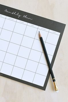 Buy Dear Maison - Undated Planner Notepad - Monthly - A4 (21x30cm) - Black &…