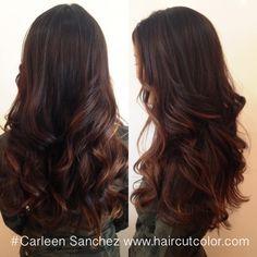 Balayage brunette by Carleen Sanchez Reno,Nv www.haircutcolor.com