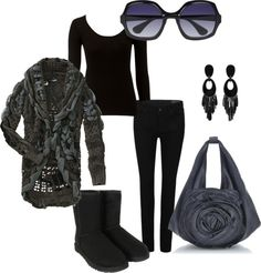 """black and grey"" by anne-christopherson on Polyvore"