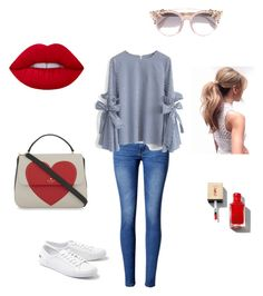 """""""a little bit french."""" by julka191 on Polyvore featuring moda, WithChic, Chicwish, Lacoste, Kate Spade i Jimmy Choo"""