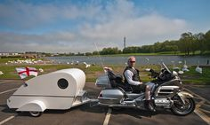 One person caravan and Honda Goldwing GL1800 motorcycle. by CWhatPhotos, via Flickr Pickup Truck Camper Shell, Truck Camper Shells, Motorcycle Campers, Motorcycle Trailer, Truck Bed Camping, Cool Campers, Camper Trailers, Motorhome, Cars And Motorcycles