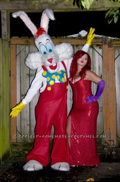 Realistic Handmade Jessica and Roger Rabbit Costumes... Coolest Homemade Costumes