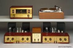 Fisher system. 1957 FM 90X FM mono tuner, Reko Kut turntable, matched pair 1952 Fisher 50A power amplifies, 50C preamplifier, 1961 MPX 100 multiplex adapter