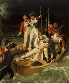 Nelson wounded during the attack on Santa Cruz, Tenerife, in 1797