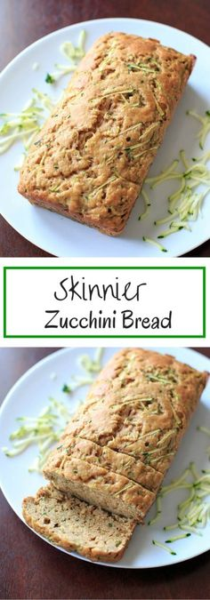 Zucchini Bread - made with applesauce and less sugar so you don't feel as much guilt for that second or third slice.Skinnier Zucchini Bread - made with applesauce and less sugar so you don't feel as much guilt for that second or third slice. Weight Watcher Desserts, Weight Watchers Zucchini, Ww Recipes, Baking Recipes, Low Carb Recipes, Dessert Recipes, Muffin Recipes, Tapas Recipes, Crab Recipes