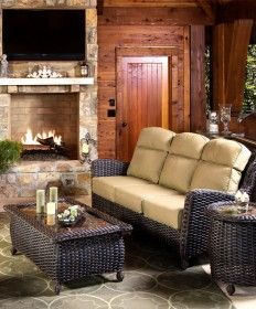 Grab your favorite book and spread out in the sun with the Richmond Sofa Set. Created by NorthCape International, the Richmond Sofa Set features a spacious sofa and other pieces made from durable woven material to ensure you can enjoy this comfortable Outdoor Rooms, Outdoor Furniture Sets, Outdoor Decor, Furniture Ideas, Home Porch, Backyard, Patio, Sofa Set, Home Accents