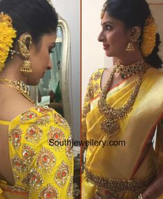 Swathi Nimmagadda in Antique Flat Diamond Jewellery photo