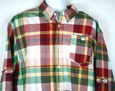 Parish-Nation-Mens-Designer-Plaid-Long-Sleeve-Detailed-L-S-Shirt-Size-3XL-EC