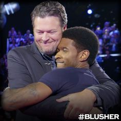 Blusher! The new Voice Bromance! Blake Shelton and Usher!