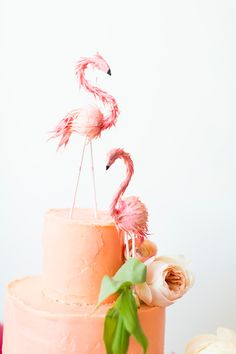 Flamingo Pop: a bridal shower collab with BHLDN - The House That Lars Built
