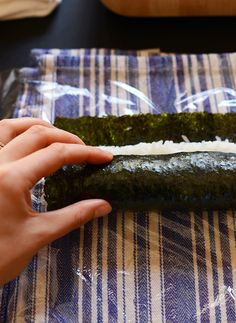 Sushi without a Mat! This method is worth a try because I hate cleaning those bamboo mats. Or maybe just more saran wrap around the mats and taped in the back so it stays on?