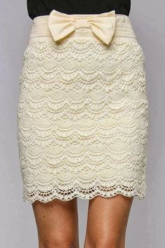 Click to view pattern for - Crochet beige skirt