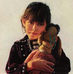The New Doll, Navajo by George Molnar kK