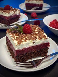Malinové řezy s tvarohem | Bez lepku Recipes From Heaven, Tiramisu, A Table, Cheesecake, Deserts, Food And Drink, Low Carb, Gluten Free, Pudding
