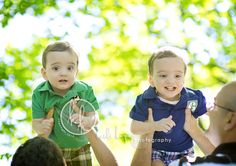 I had the pleasure of photographing two sets of twins last week, but C and N were far from sleepy like the last set! We decided to head to the park because toddlers generally do better when they have some room to run around. The boys were hard to tell apart by looking at them, but they